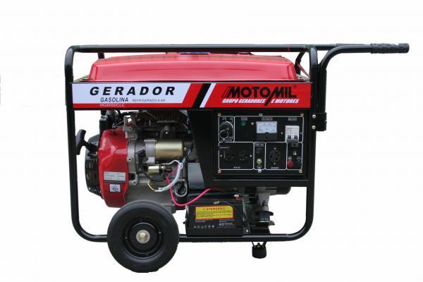8766b890045 Gerador de energia Motomil MG-6000CL 6 KVA - partida manual - monofásico -  110V 220V